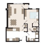 The Oriole 1 Bedroom | 656 sq. ft.$535-1,120