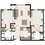 The Camden 2 Bedroom | 909 sq. ft.$1,349