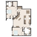 The Raven 2 Bedroom | 1138 sq. ft.$1,349