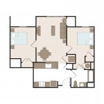 The Russell2 Bedroom | 816 sq. ft.$1,349