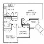 2 Bedroom | 1 Bath $ Call For Pricing