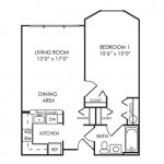 1 Bedroom 702 sq ft $1,250-$1,354