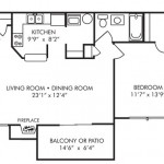 1 Bedroom 728 sq ft $ Call For Pricing