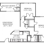 2 Bedroom 1105 sq ft $ Call For Pricing