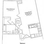 1 Bedroom 703 Sq Ft