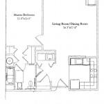 1 Bedroom 804 Sq Ft