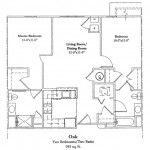 2 Bedroom 945 Sq Ft $ Call For Pricing
