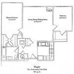 2 Bedroom 988 Sq Ft $ Call For Pricing
