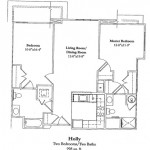 2 Bedroom 998 Sq Ft $ Call For Pricing