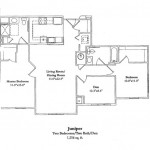 2 Bedroom w/Den 1256 Sq Ft $ Call For Pricing