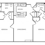 2 Bedroom | 2 Bath 850 sq ft $ Call For Pricing