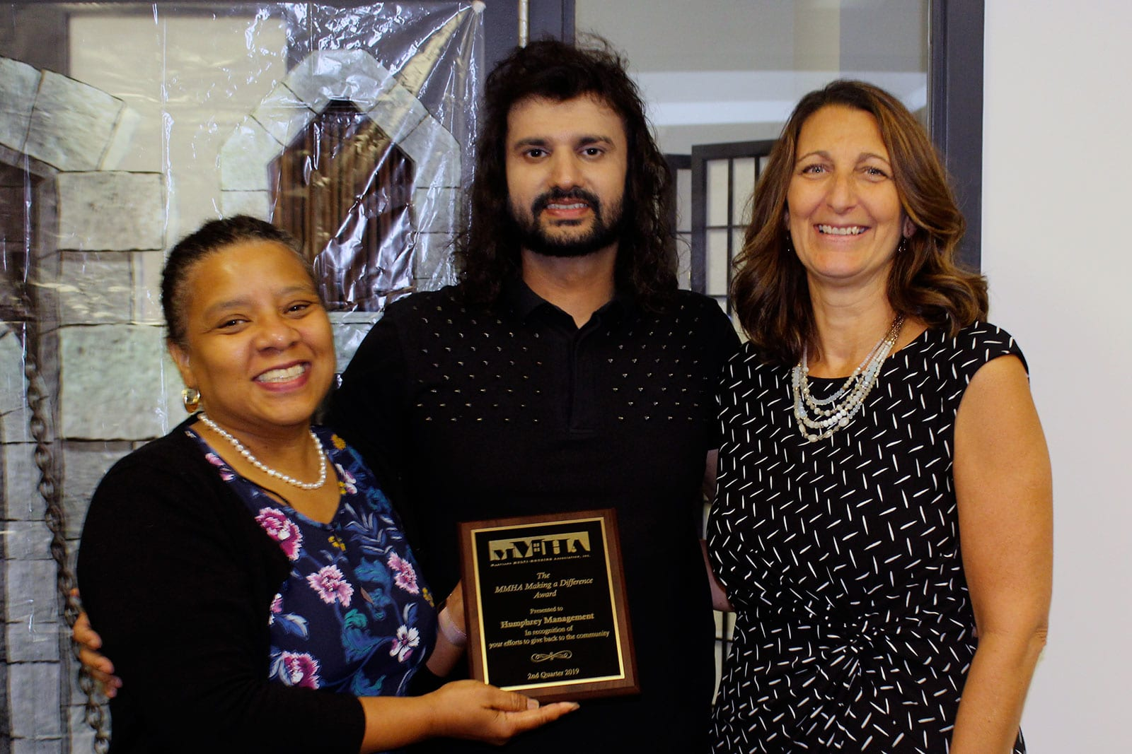 "MMHA Awards Humphrey The ""Making A Difference"" Award for Community Connections Program"